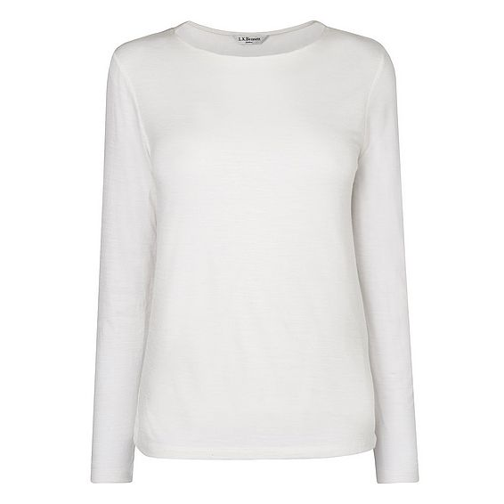 Ella White Jersey Top