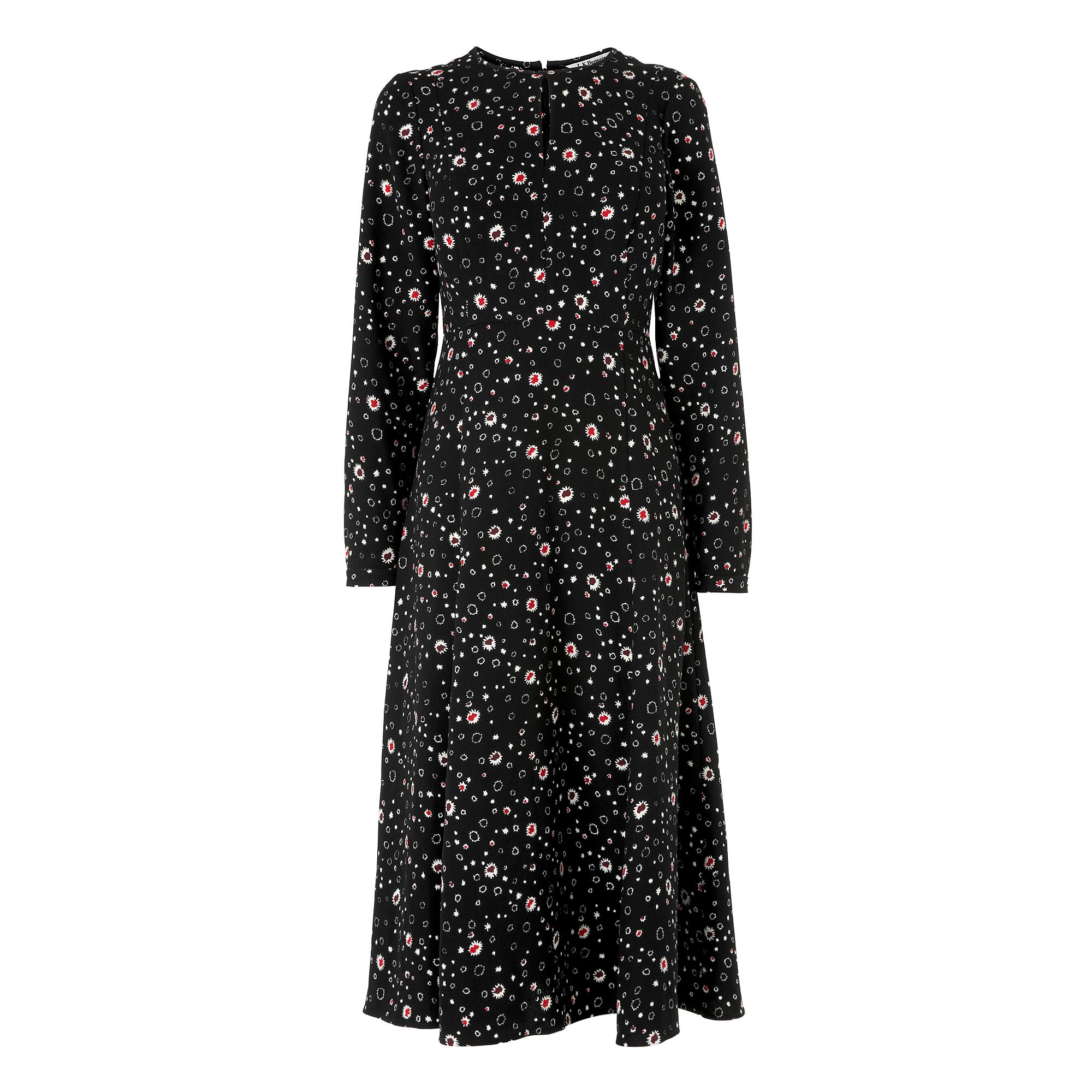 7e4f6801c9e2 Freya Black Printed Dress | Clothing | Collections | L.K.Bennett, London