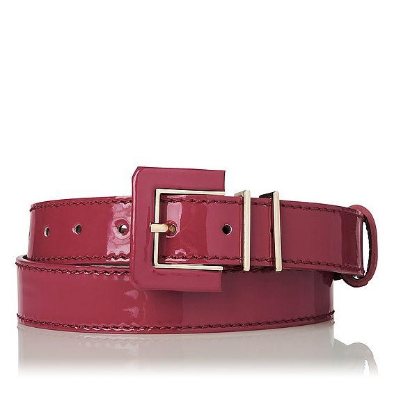 Gena Pink Patent Belt