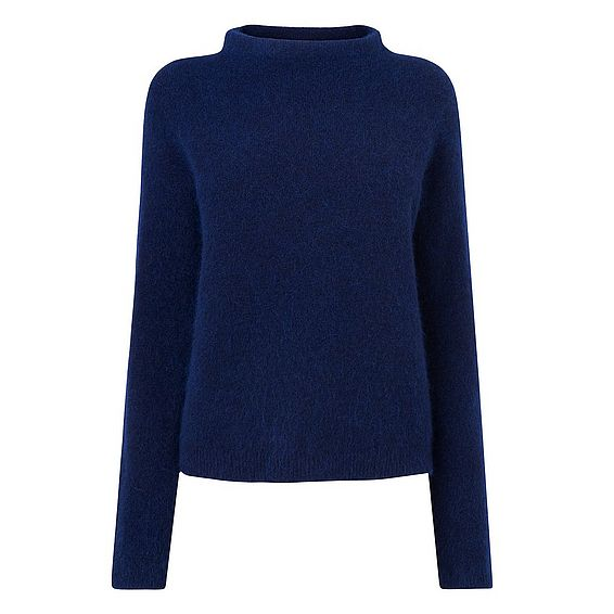 Glover Blue Mohair Knitted Top