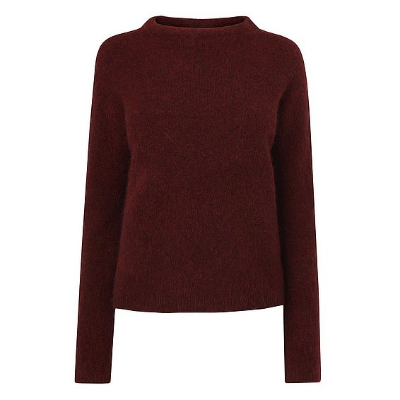 Glover Truffle Mohair Knitted Top