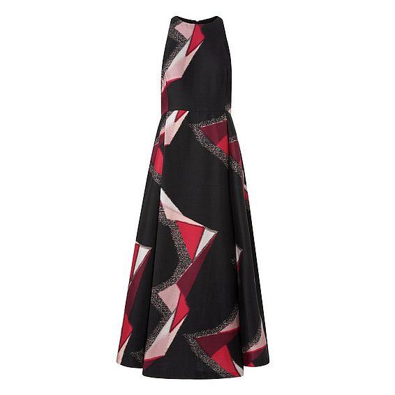 Guilia Red Cotton Silk Dress