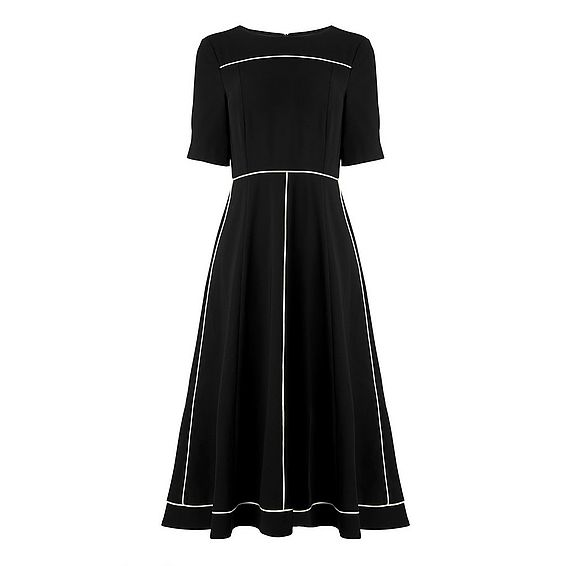 Indina Black Midi Dress