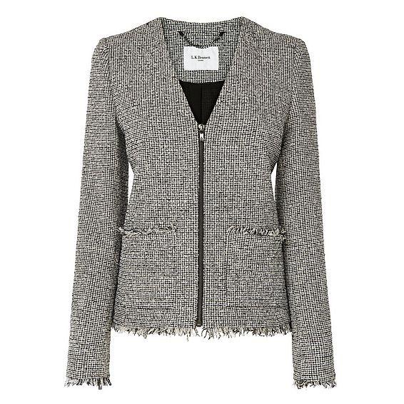 Nessa Tweed Shift Jacket