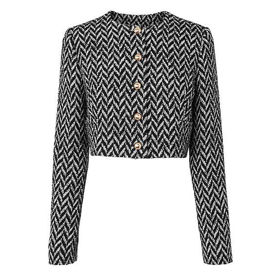 Karla Herringbone Tweed Jacket