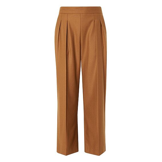 Louise Toffee Wool Trousers