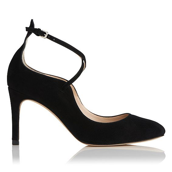 Melinda Black Suede Courts