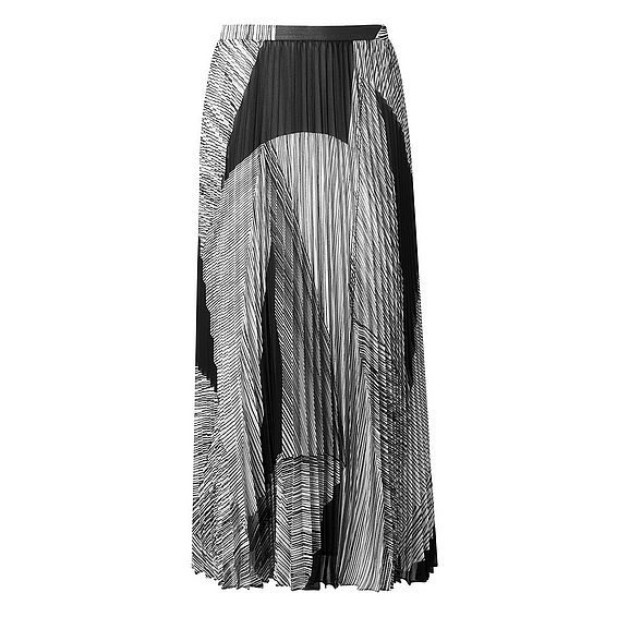 Mia Black Printed Skirt