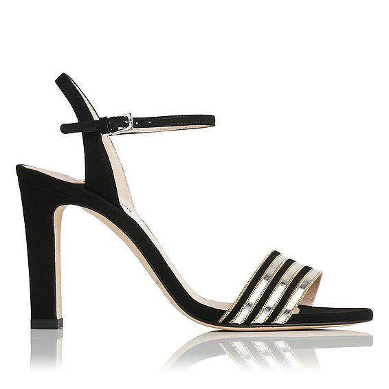 Samantha Silver Suede Sandals