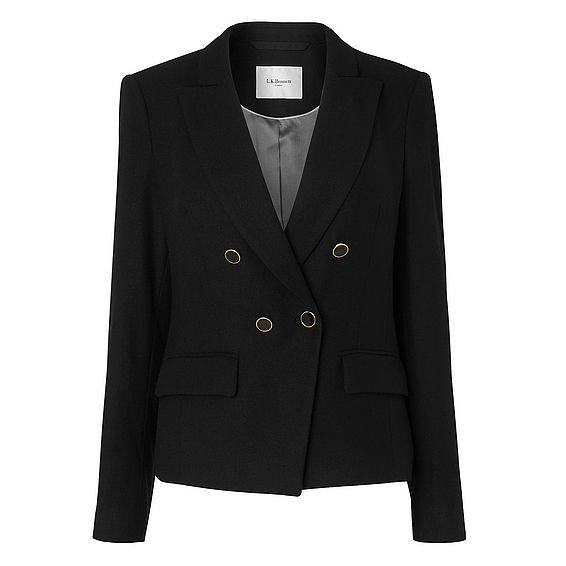 Sara Black Wool Jacket