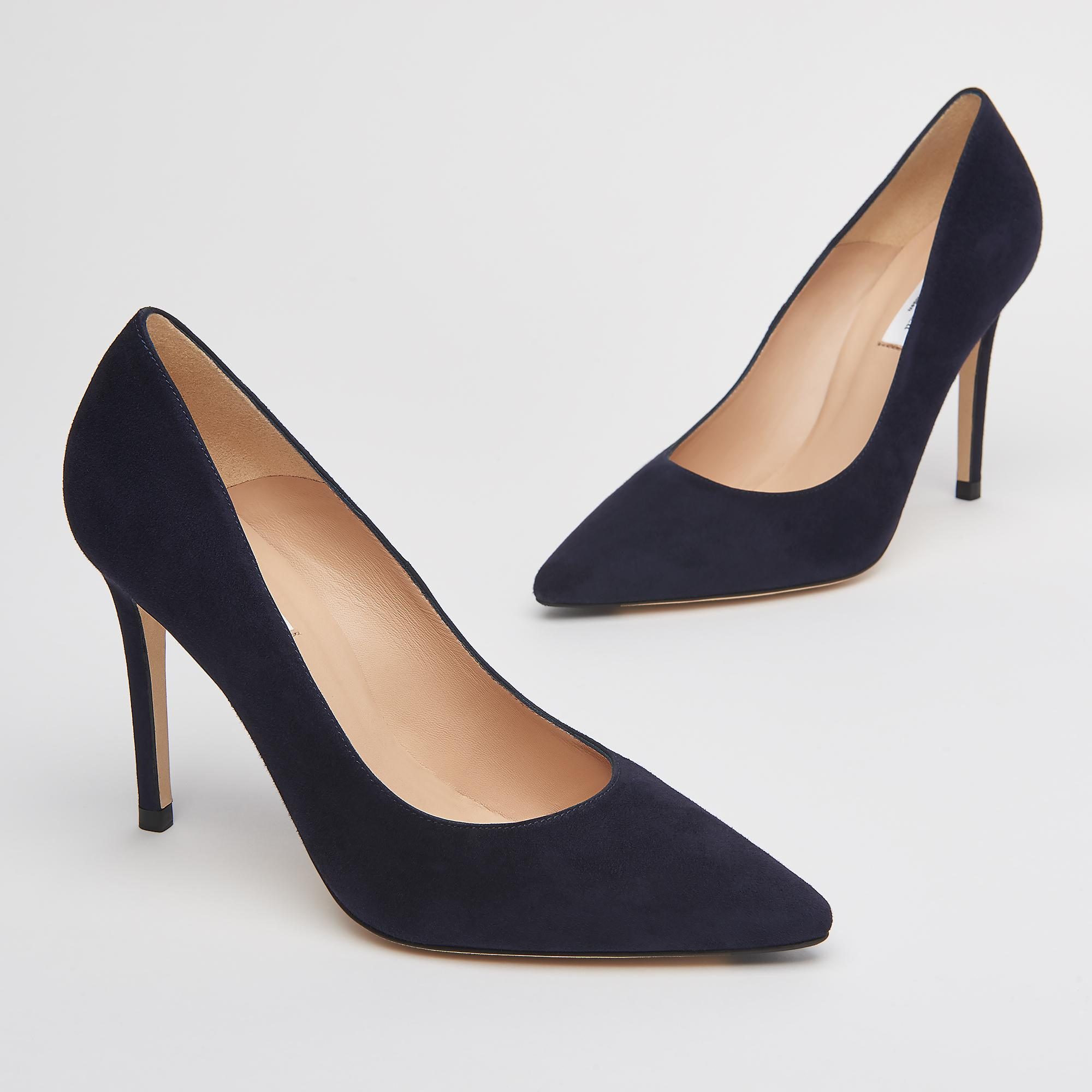 9d061396a8a4 Fern Navy Suede Pointed Toe Courts