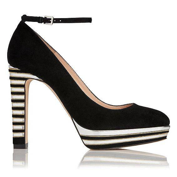 L K Bennett Floret Pointed Court Shoes Platinum