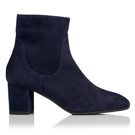 Simi Navy Suede Ankle Boots