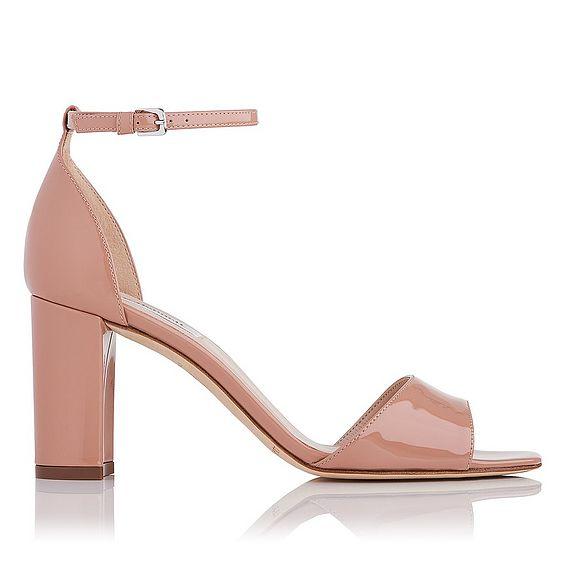 Helena Fawn Block Heel Sandals