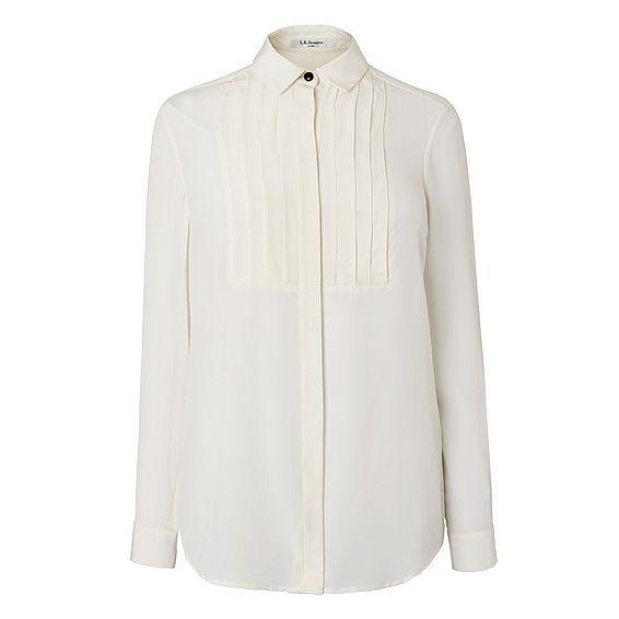 Vivi Cream Silk Woven Top
