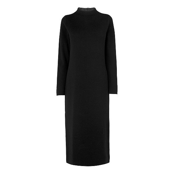 Whitney Black Merino Dress