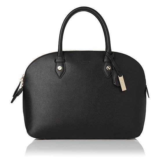 Camilla Black Leather Tote Bag