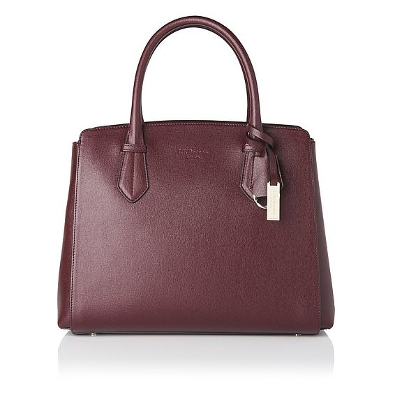 Catrina Oxblood Leather Tote Bag