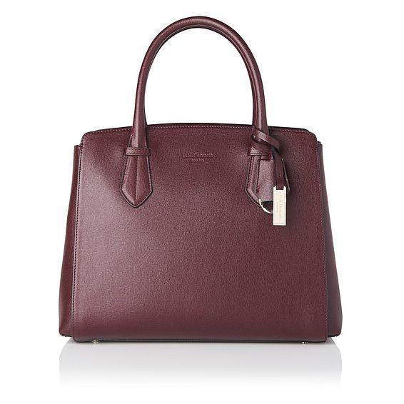 Catrina Oxblood Leather Tote Bag
