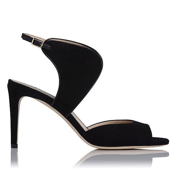 Cecilia Black Suede Formal Sandals