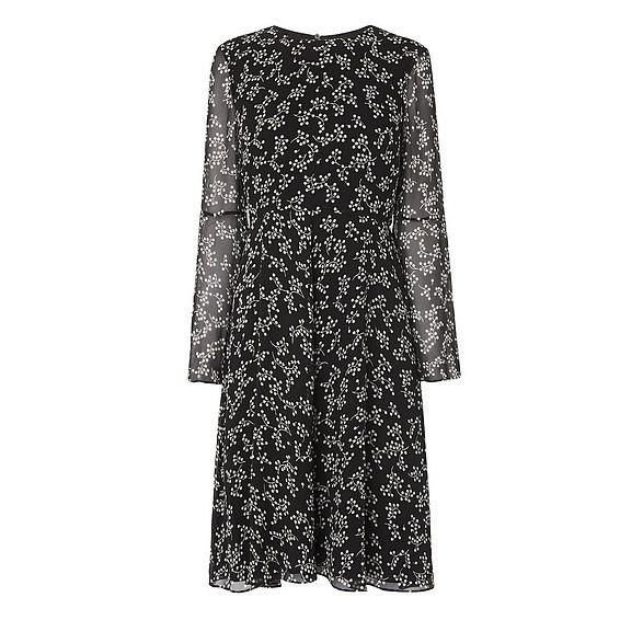 Cecily Black Silk Dress