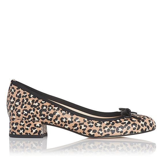 Danielle Animal Printed Leather Block Heel Courts