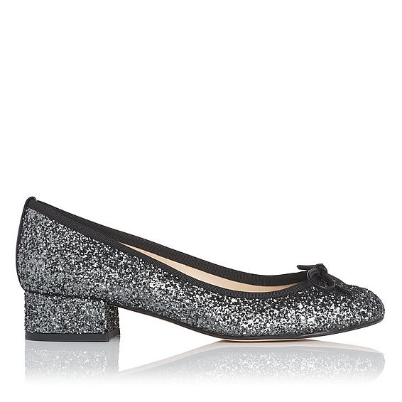 Danielle Glitter Block Heel Courts