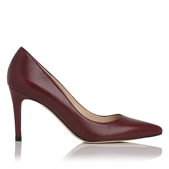 Floret Oxblood Leather Point Toe Courts