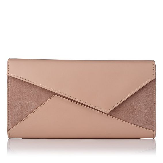Lindy Natural Suede Clutch