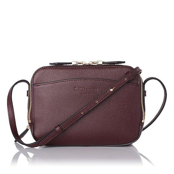 Mariel Oxblood Leather Shoulder Bag