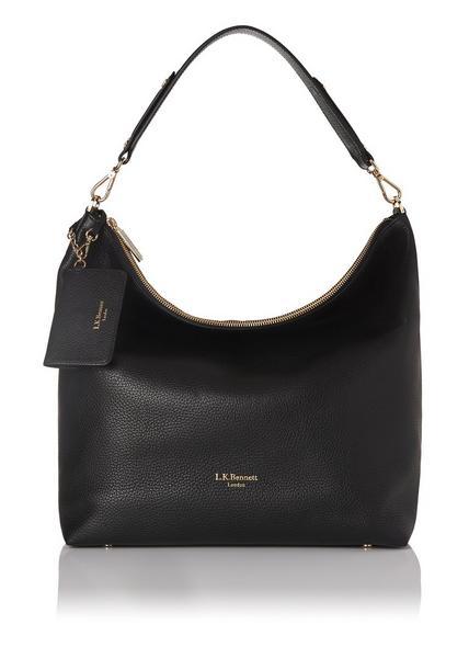 Margot Black Leather Shoulder Bag