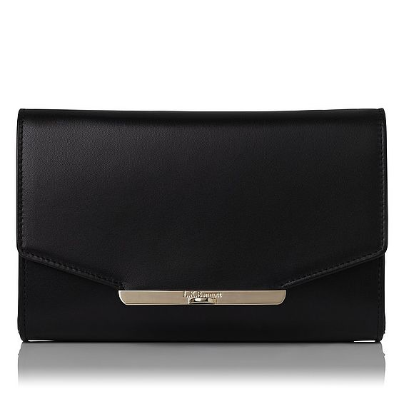 Zadie Black Leather Clutch