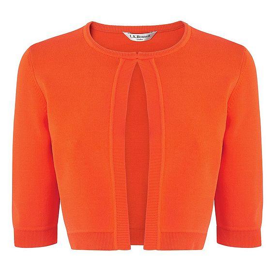 Fern Orange Knitted Cardigan