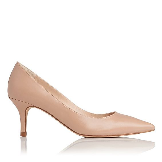 Florisa Beige Leather Point Toe Court