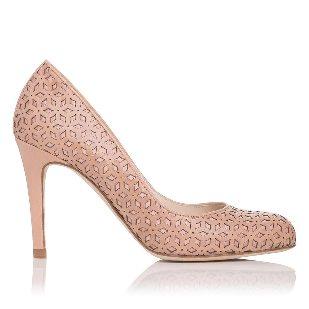 L.K. Bennett Laser Cut Leather Sandals