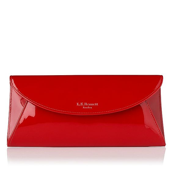 Flo Patent Leather Clutch