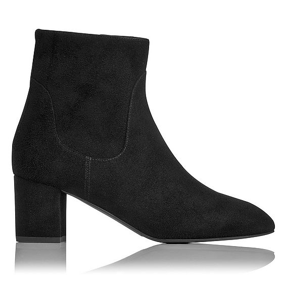 Simi Black Suede Ankle Boots
