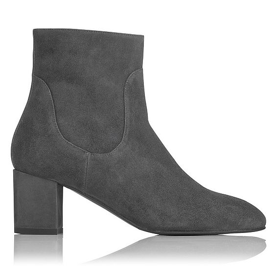 Simi Grey Suede Ankle Boots