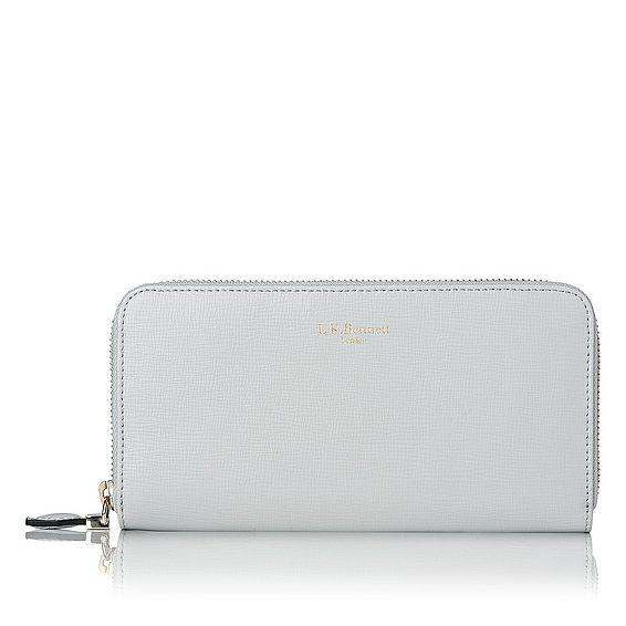 Kenza Grey Saffiano Leather Wallet