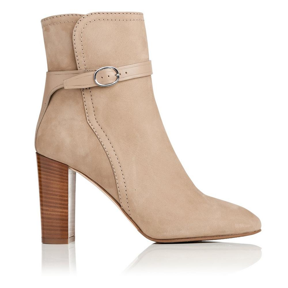 L.K. Bennett Leather Round-Toe Booties