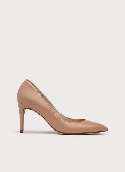 Floret Nude Leather Pointed Toe Courts
