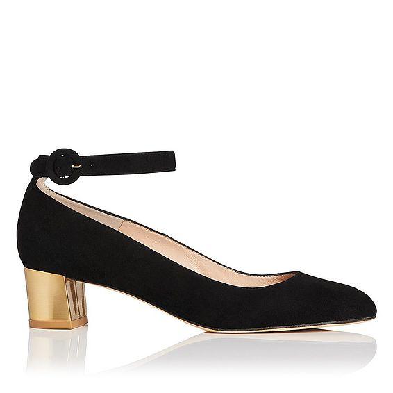 Parka Black Suede Block Heels
