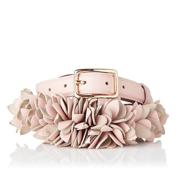 Peony Marshmallow Nappa Leather Belts