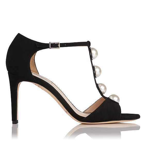 Alejandra Black Suede Formal Sandals