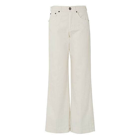 Alexis Cream Cotton Elastane Trouser