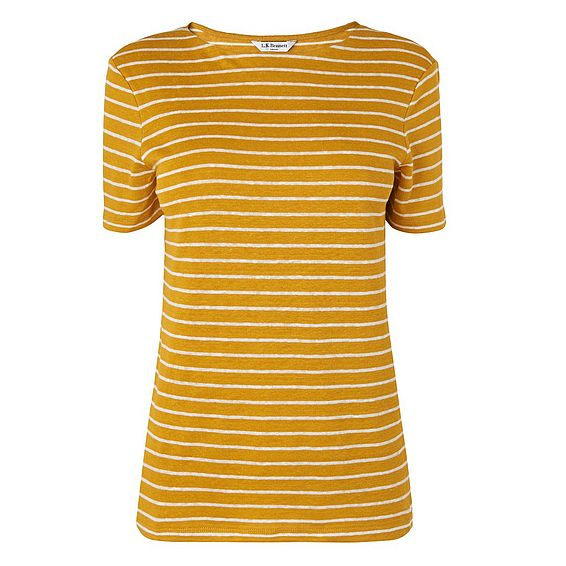 Aloha Yellow Linen Jersey Top