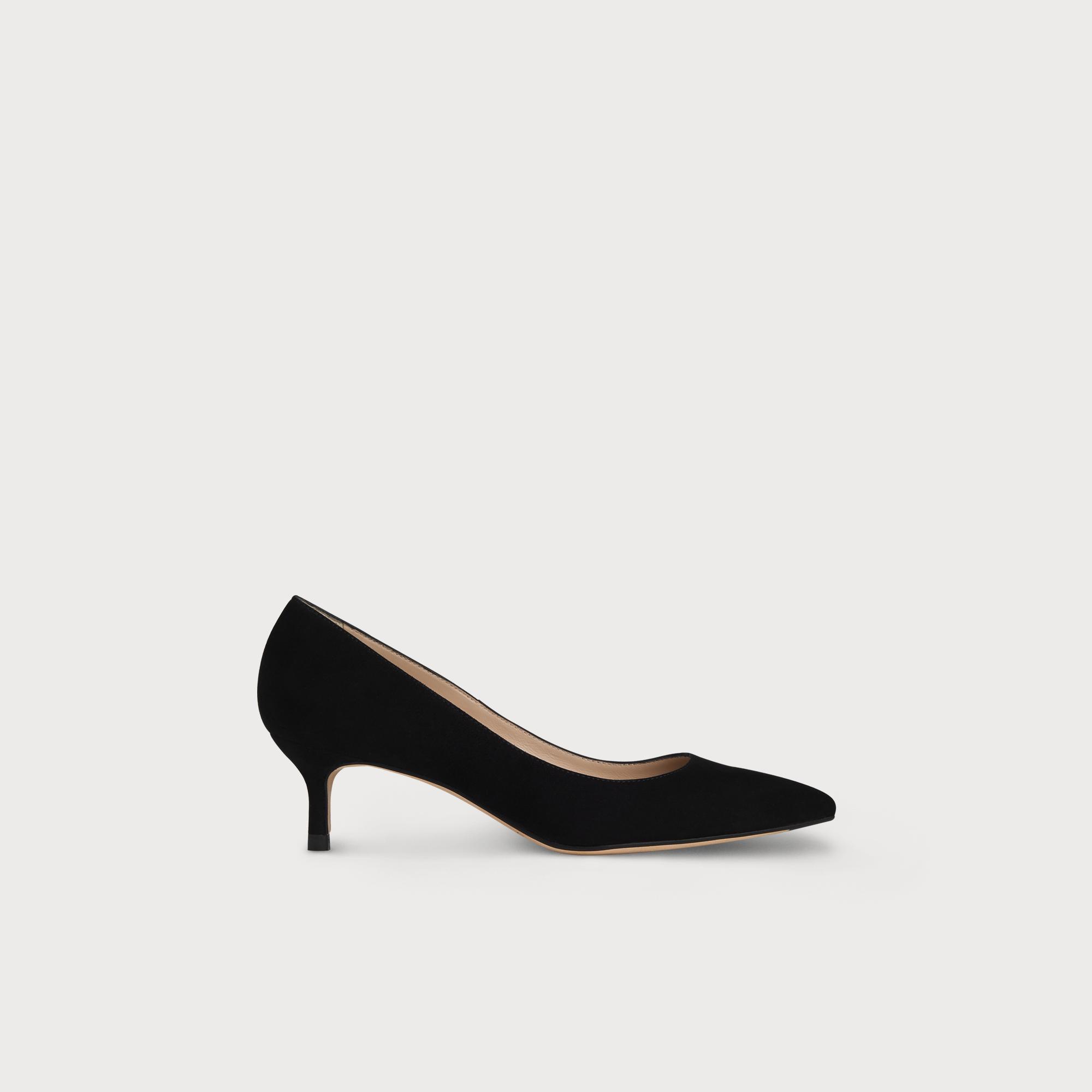 5709712c8af Audrey Black Suede Kitten Heel Courts | Shoes | L.K.Bennett
