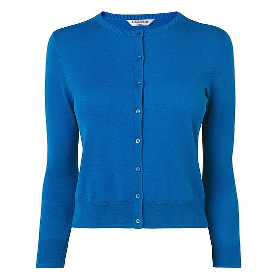 Bibi Blue Silk Cotton Cardigan