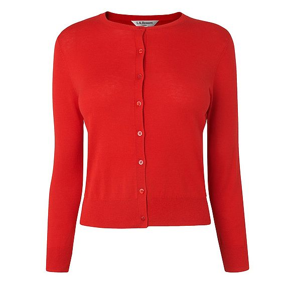 Bibi Red Silk Cotton Cardigan