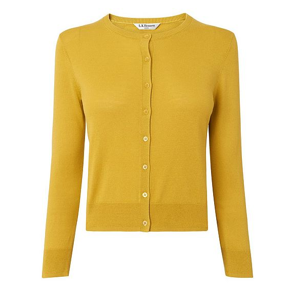Bibi Yellow Silk Cotton Cardigan